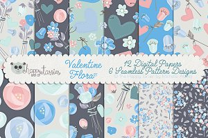 Valentine Flora 05 Patterns