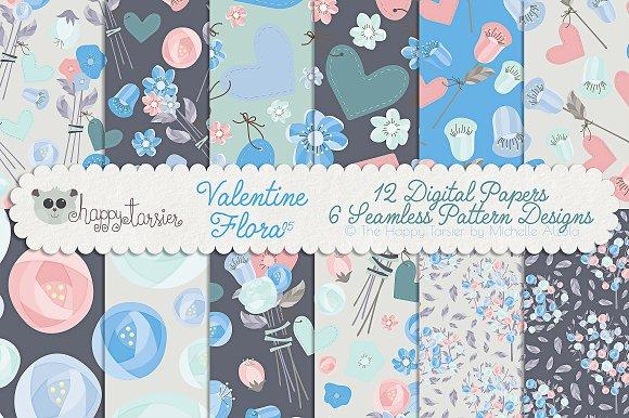 Valentine Flora 05 Patterns