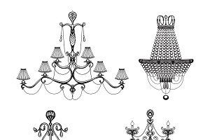 Decorative chandelier set
