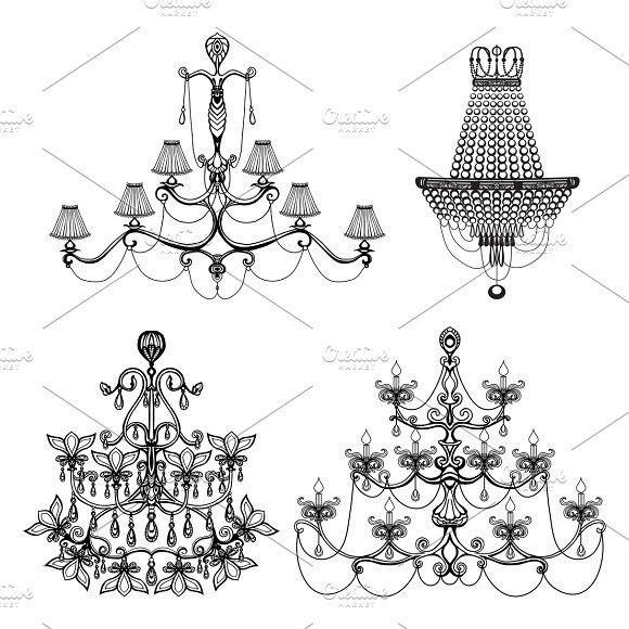 Decorative Chandelier Set