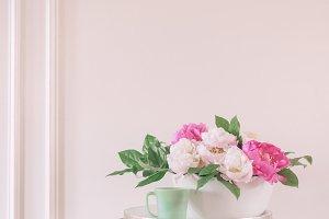 Pastel Pink Peonies