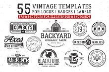 vintage 55 logo templates