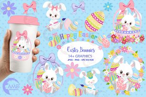 Easter Bunny Clipart AMB-1182