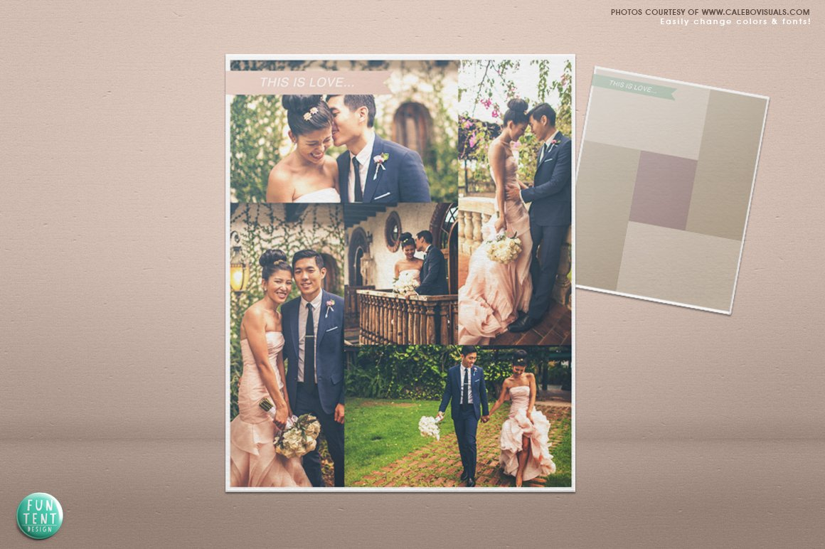 Wedding blog board collage template ~ Flyer Templates ~ Creative Market