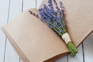 Clean sheets notepad with Lavander f
