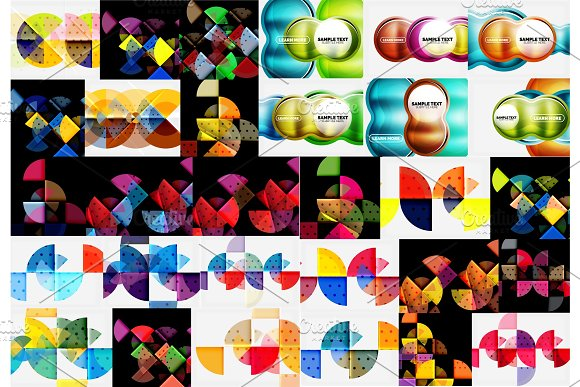 Mega Collection Of Geometric Abstract Templates Backgrounds