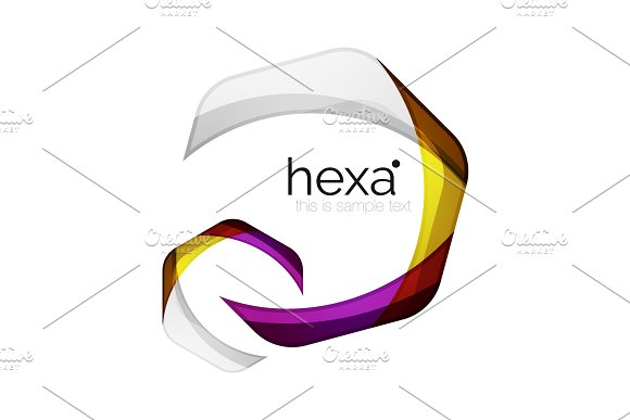 Clean Professional Business Hexagon Emblem
