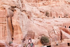 Camels in Ancient Petra