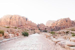 Ancient Petra Stone Road