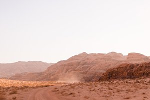 Dusty Road in Wadi Rum