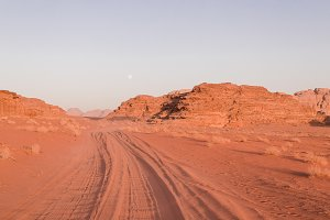 Sunset Road in Wadi Rum