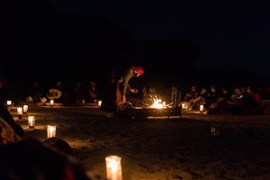 Bedouin Camp Fire