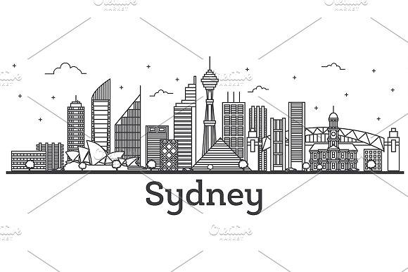 Outline Sydney Australia City