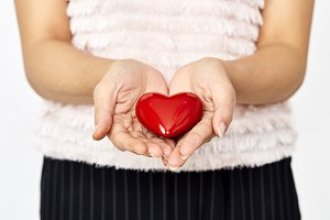 hands giving heart  love and sharing