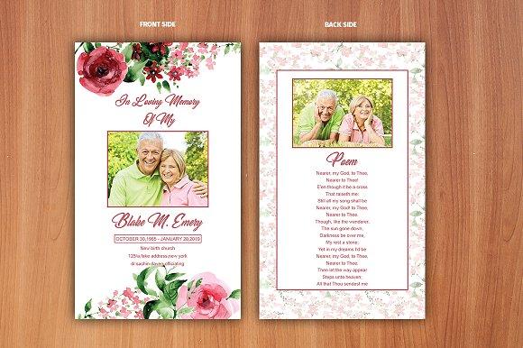 Funeral Prayer Card Template Flyer Templates Creative Market - Prayer card template
