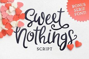 Sweet Nothings Script + Bonus Font!