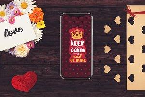 Valentine iPhone X Mock-up #2