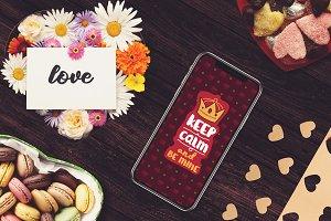 Valentine iPhone X Mock-up #3