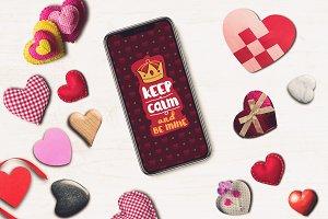 Valentine iPhone X Mock-up #5
