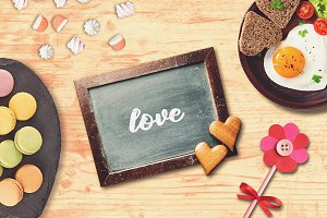 Valentine Chalkboard Mock-up #1