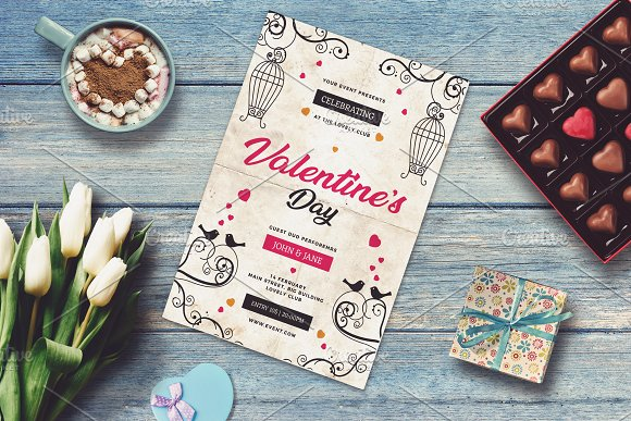Valentine Invitation Card Mock-up #1