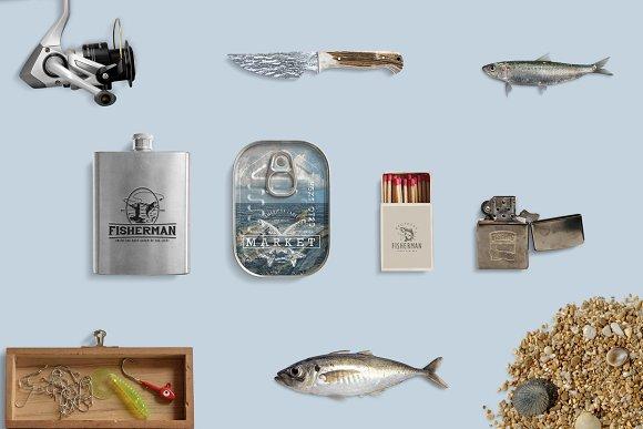 Fishing Vintage Badges Logos Logo Templates Creative Market