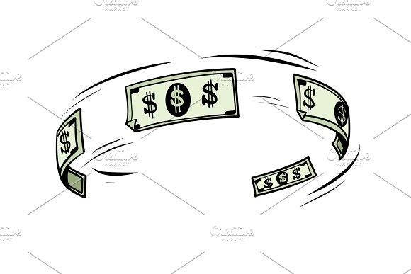 The Circulation Of Money Dollars Cash
