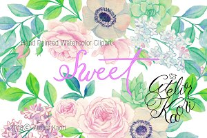 Rose Succulent Clipart
