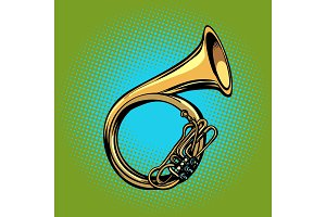 tuba French horn helicon musical instrument