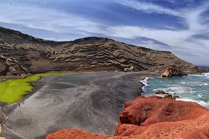The beach in the volcano
