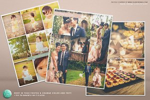 3 Blog boards collage template 16x20
