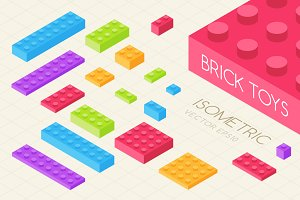 Isometric Building Block Toys