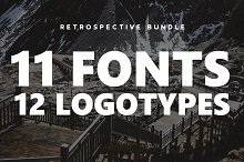 Retrospective Bundle - Fonts & Logos
