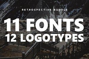 Retrospective Bundle - Fonts & Logos