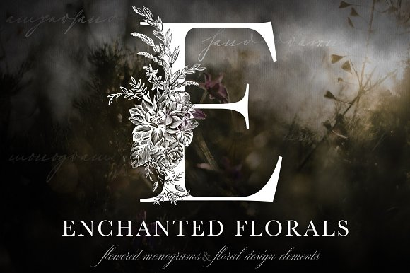 Enchanted Florals Monogram Set