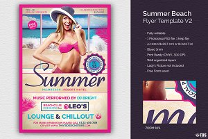 Summer Beach Flyer Template V2