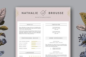 Feminine Resume Template for MS Word