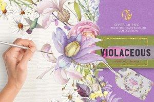Violaceous watercolors