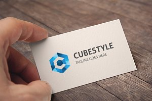 Letter C (Cube Style) Logo
