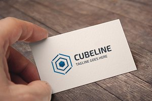 Cube Line Logo