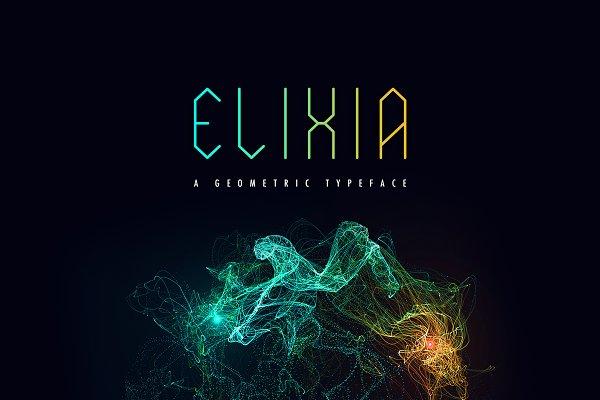 Elixia | Geometric Font