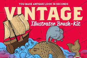 Vintage Illustrator Brush-Kit