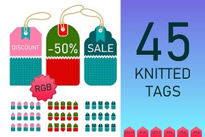 Color knitted tags