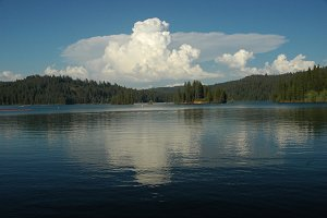 Calm Lake With Thunderheads