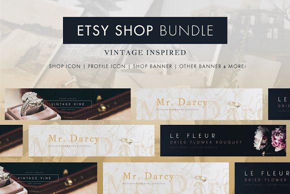 Etsy Shop Bundle Banner Icons