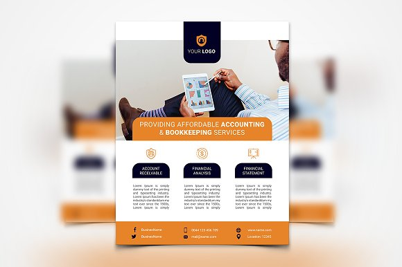 Accounting services flyer flyer templates creative market accounting services flyer flyers pronofoot35fo Gallery