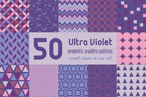 Ultra Violet Geometric Patterns Set
