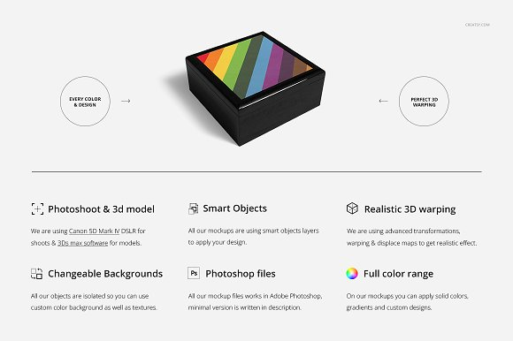 Tiled Wood Jewelry Box Mockup Set in Product Mockups - product preview 1