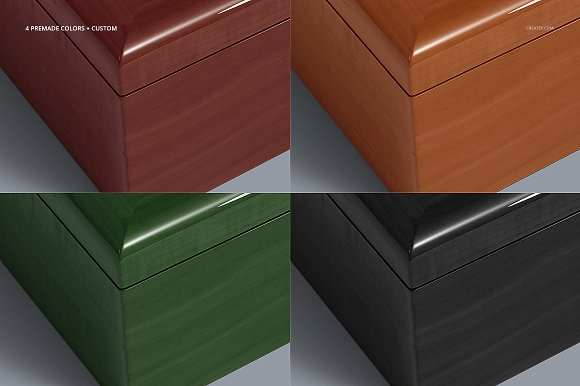 Tiled Wood Jewelry Box Mockup Set in Product Mockups - product preview 5