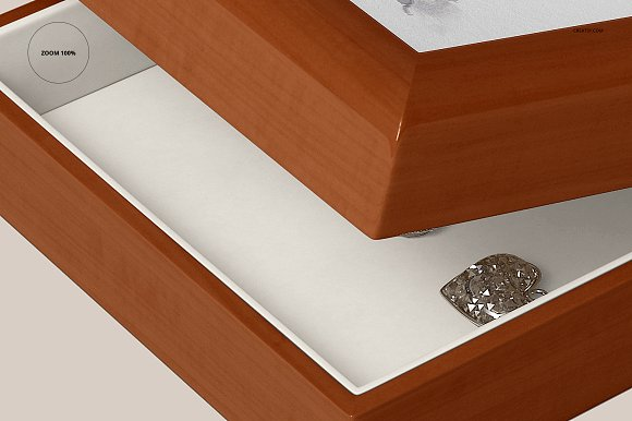 Tiled Wood Jewelry Box Mockup Set in Product Mockups - product preview 13